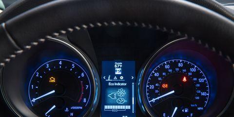 Mode of transport, Speedometer, Gauge, Tachometer, Measuring instrument, Trip computer, Odometer, Fuel gauge, Luxury vehicle, Coquelicot,