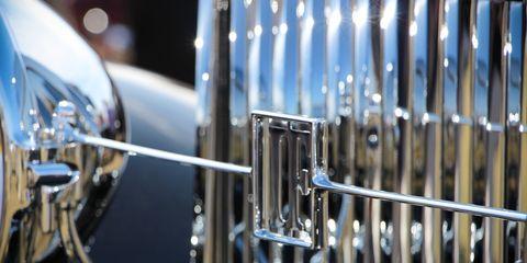 Automotive exterior, Grille, Iron, Metal, Classic car, Antique car, Classic, Steel, Kit car, Vintage car,