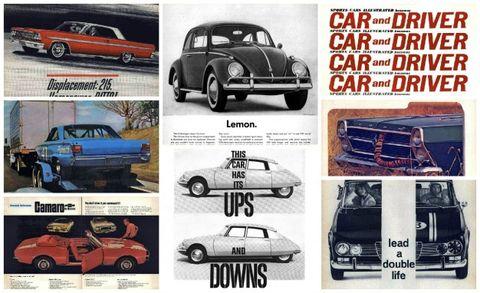 1960s vintage car ads