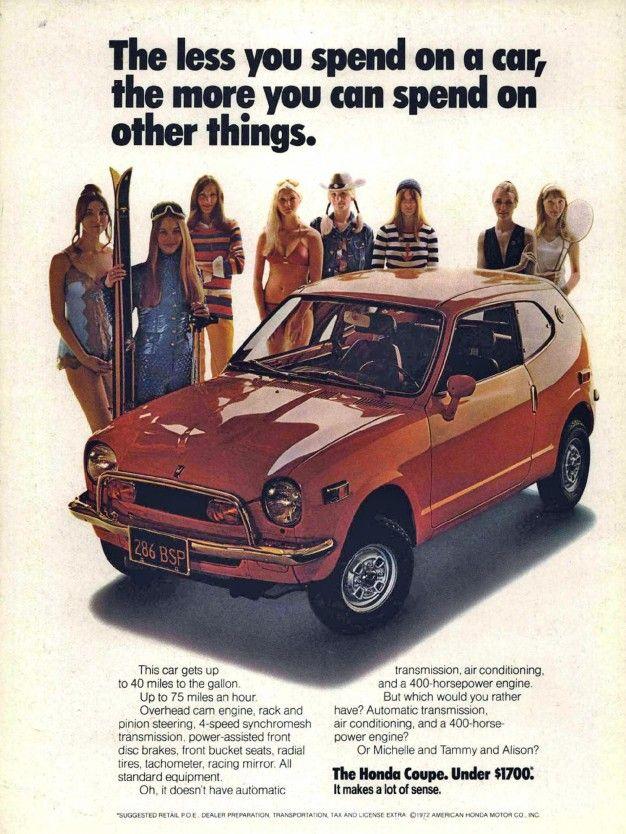 car advertising 70s