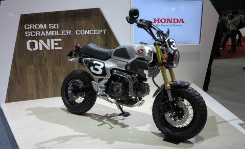 Grom Scrambler Concept Bikes You Had Us At Knobby Tires Honda