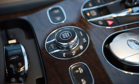 2017 bentley bentayga driving mode dial