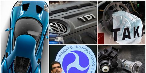 2015 automotive news photo collage