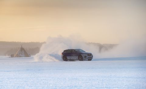 Automotive tire, Winter, Automotive design, Car, Atmospheric phenomenon, Freezing, Automotive lighting, Smoke, Snow, Motorsport,