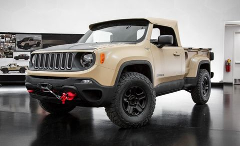 2016 Jeep Comanche >> Jeep Revives The Comanche As A Renegade Based Trucklet News Car