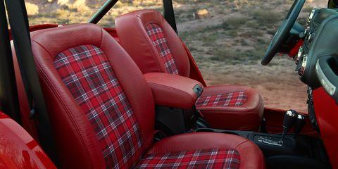 Motor vehicle, Transport, Red, Car seat, Car seat cover, Carmine, Vehicle door, Drum, Steering part, Steering wheel,