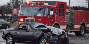 Miata Crash scene