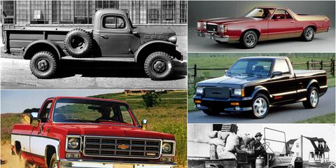 pickup truck collage