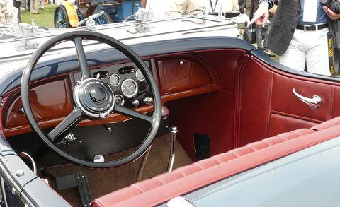 Motor vehicle, Steering part, Steering wheel, Classic car, Speedometer, Antique car, Classic, Vehicle door, Personal luxury car, Car seat,