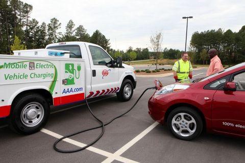 AAA Mobile Charging Trucks Seek to Remedy EV Range Anxiety