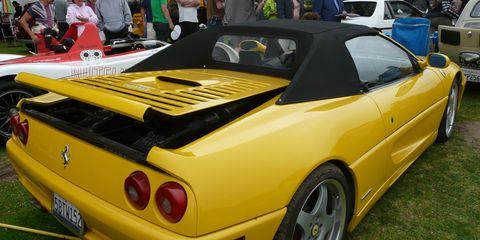 Tire, Wheel, Mode of transport, Automotive design, Vehicle, Yellow, Land vehicle, Vehicle registration plate, Car, Rim,