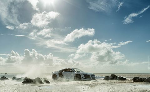 Sky, Cloud, Automotive design, Automotive exterior, Landscape, Auto part, Rock, Cumulus, Hood, Sand,