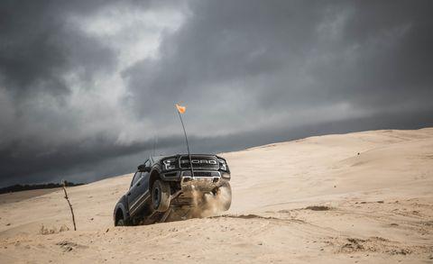 Sand, Natural environment, Atmosphere, Landscape, Automotive tire, Aeolian landform, Off-roading, Auto part, Horizon, Atmospheric phenomenon,