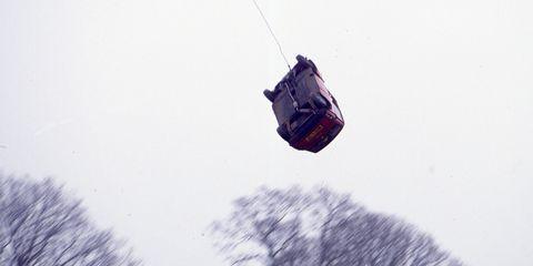 car flying through the air
