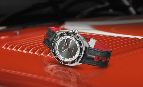 Watch, Analog watch, Red, Watch accessory, Glass, Font, Fashion accessory, Metal, Black, Everyday carry,