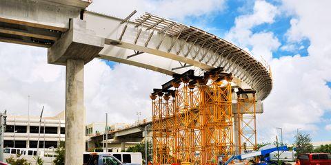 Plant, Cloud, Architecture, Automotive exterior, Concrete, Parking, Bridge, Beam bridge, Column, Engineering,