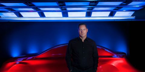 Automotive design, Blue, Vehicle door, Ceiling, Luxury vehicle, Electric blue, Automotive lighting, Personal luxury car, Concept car, Sports car,
