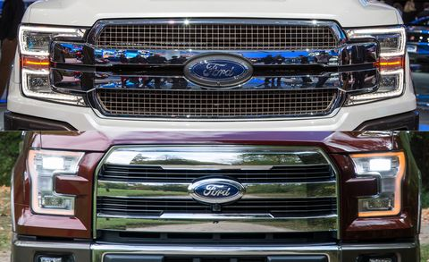 Ford F 150 2018 Vs 2017 Here S What S New On The 2018 Ford
