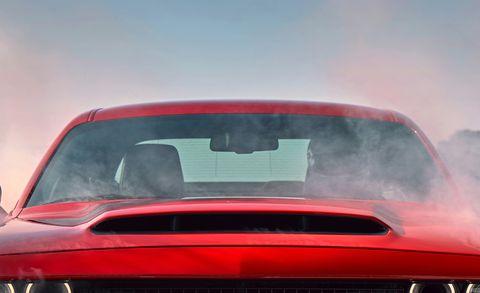 Motor vehicle, Automotive design, Automotive exterior, Hood, Red, Car, Glass, Automotive tail & brake light, Grille, Automotive mirror,