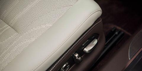 Vehicle door, Beige, Leather, Automotive door part, Luxury vehicle, Personal luxury car, Carbon,