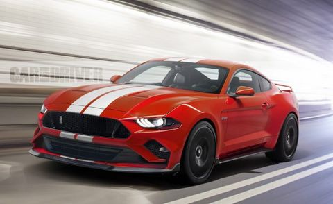2018 Ford Mustang Shelby Gt500 Artist S Rendering