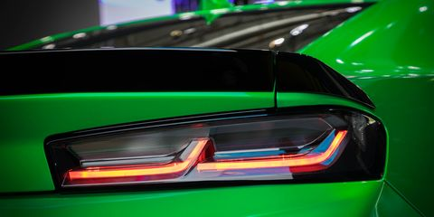 Land vehicle, Vehicle, Car, Green, Automotive design, Automotive lighting, Light, Headlamp, Concept car, Sports car,