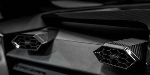 Automotive design, Vehicle, Car, Personal luxury car, Supercar, Lamborghini, Concept car, Grille, Carbon, Luxury vehicle,