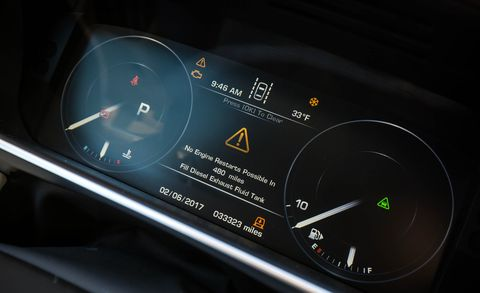 Automotive design, Text, Gauge, Circle, Measuring instrument, Brand, Luxury vehicle, Trademark, Number, Symbol,