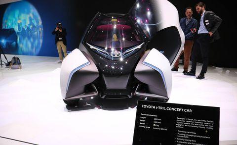 Automotive design, Auto show, Vehicle, Car, Concept car, Automotive exterior, Fictional character, Toyota, Electric vehicle,