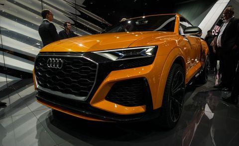 Land vehicle, Vehicle, Car, Auto show, Automotive design, Audi, Sports car, Concept car, Audi quattro, Supercar,