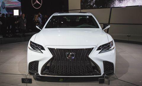 Land vehicle, Vehicle, Car, Automotive design, Headlamp, Auto show, Lexus, Mid-size car, Automotive lighting, Automotive exterior,