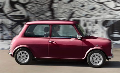Land vehicle, Vehicle, Car, Motor vehicle, Mini, Mini cooper, Pink, Subcompact car, Innocenti mini, City car,