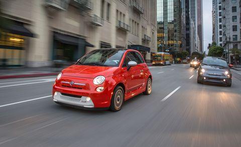 Land vehicle, Vehicle, City car, Car, Motor vehicle, Red, Fiat 500, Automotive design, Fiat 500, Fiat,