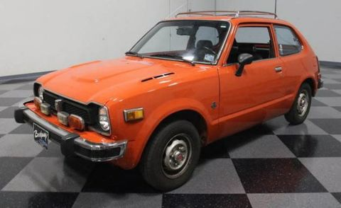 1973 honda civic orange