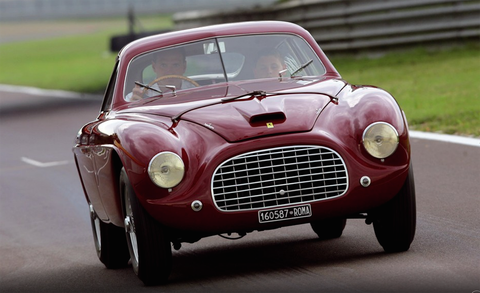 Land vehicle, Vehicle, Car, Classic car, Coupé, Ferrari 166 s, Sports car, Automotive design, Classic, Sedan,