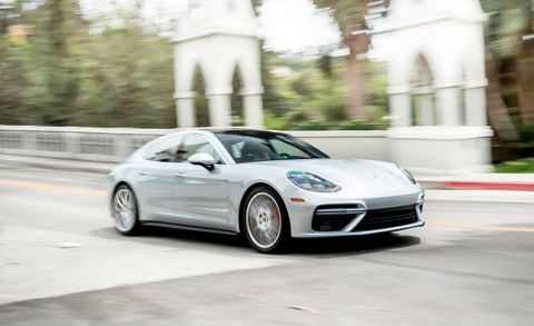 Land vehicle, Vehicle, Car, Luxury vehicle, White, Automotive design, Performance car, Wheel, Rim, Porsche panamera,