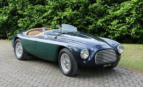 Land vehicle, Vehicle, Car, Classic car, Coupé, Ac ace, Convertible, Sports car, Ferrari 166 s, Austin-healey 100,