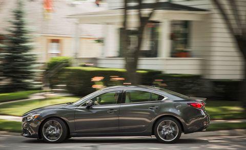 Land vehicle, Vehicle, Car, Automotive design, Mid-size car, Mazda, Mazda6, Rim, Automotive tire, Tire,