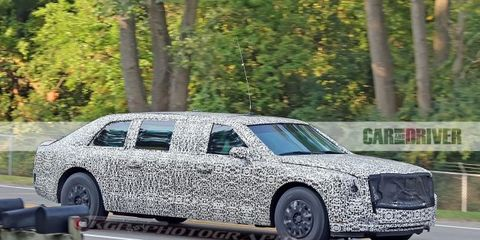 Cadillac Presidential Limousine (spy photo)