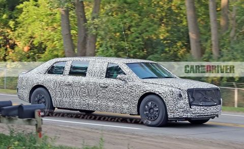 Trump S Cadillac Limo Spied Testing Almost White House