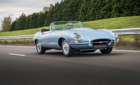 Land vehicle, Vehicle, Car, Motor vehicle, Coupé, Automotive design, Sports car, Classic car, Performance car, Jaguar e-type,