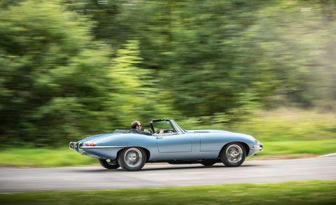 Land vehicle, Vehicle, Car, Coupé, Convertible, Automotive design, Classic car, Sports car, Jaguar e-type, Sedan,