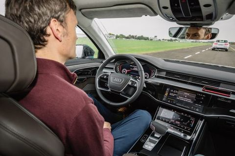 We Let the 2019 Audi A8 Drive Itself with Traffic Jam Pilot