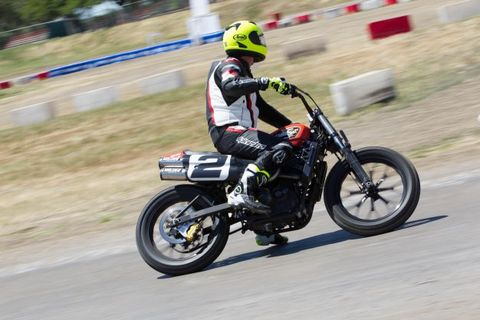 Harley Flat Track >> Riding Harley Davidson S Xg750r Flat Track Motorcycle