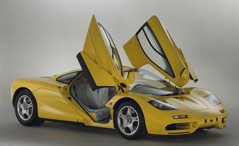 Land vehicle, Vehicle, Car, Supercar, Automotive design, Sports car, Yellow, Model car, Mclaren f1, Performance car,