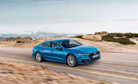 Land vehicle, Vehicle, Car, Luxury vehicle, Automotive design, Blue, Executive car, Personal luxury car, Performance car, Audi,