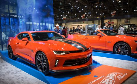 Land vehicle, Vehicle, Car, Auto show, Motor vehicle, Chevrolet camaro, Performance car, Automotive design, Sports car, Custom car,