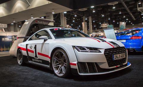Land vehicle, Vehicle, Car, Automotive design, Auto show, Audi, Executive car, Personal luxury car, Luxury vehicle, Sports car,