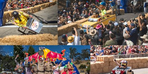 Vehicle, Red bull, Crowd, Collage, Tourism, Racing, Race track, Art, Motorsport, Photomontage,