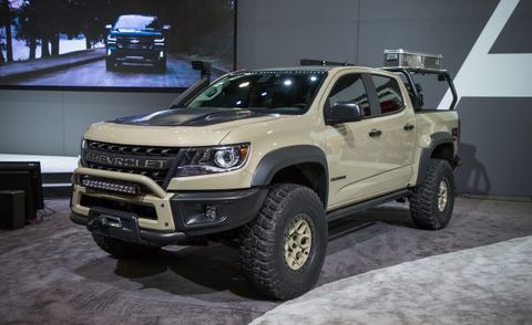 The Chevrolet Colorado ZR2 AEV Concept Is Seriously Hard ...